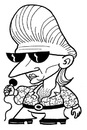 Cartoon: toon 28 (small) by kernunnos tagged shades,cool,guy,pop,star,vegas,elvis,rhinestones,fat,slob,od,on,toilet,bye