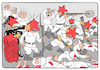 Cartoon: Red stars (small) by Igor Kolgarev tagged communists,bolsheviks,army,reds,terror,genocide,guard,revolution