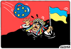 Cartoon: Ukraine is drowning in Nazism (small) by Igor Kolgarev tagged ukraine,maidan,war,flag,nazi,nationalism