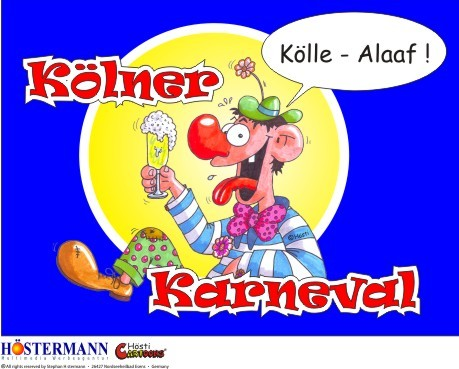 Cartoon: Aufkleber für Köln (medium) by Hösti tagged köln,hösti,cartoons,karneval