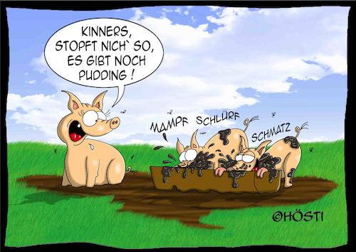 Cartoon: Höstis Schweinereien (medium) by Hösti tagged hösti,cartoons,hoesti,stephan,höstermann,schweine,schweinereien