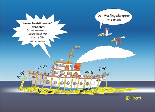 Cartoon: Möwe Emma und Konsorten (medium) by Hösti tagged möwe,emma,robbi,willi,hösti,cartoons,küste,ostfriesland