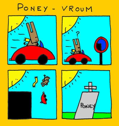 Cartoon: Oney vroum (medium) by lpedrocchi tagged pony,drive,car