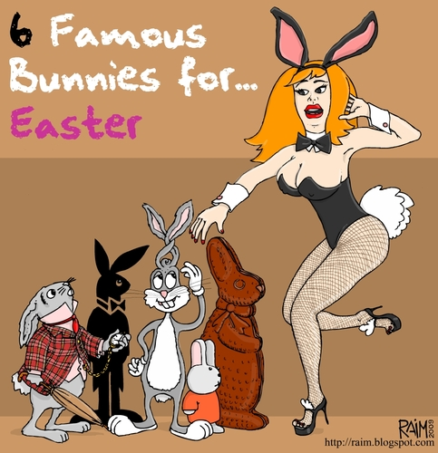 cartoon easter bunnies pictures. Cartoon: easter bunnies