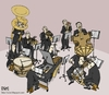 Cartoon: orchestra (small) by raim tagged cartoon,raim,orchestra
