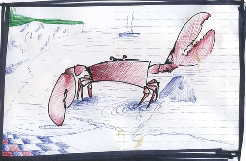 Cartoon: Crabby (medium) by claretwayno tagged crab,seaside