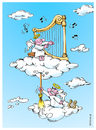 Cartoon: Angels! (small) by Ali Miraee tagged angel music cartoon ali miraee miraie mirayi