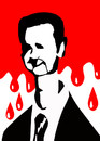 Cartoon: bashar al-assad (small) by Ali Miraee tagged ali miraee