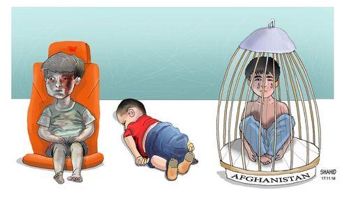 3 innocent kids By Shahid Atiq   Politics Cartoon   TOONPOOL