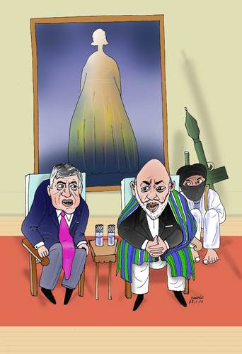 Cartoon: Afghan-London Conferece (medium) by Afghancartoon tagged 0101