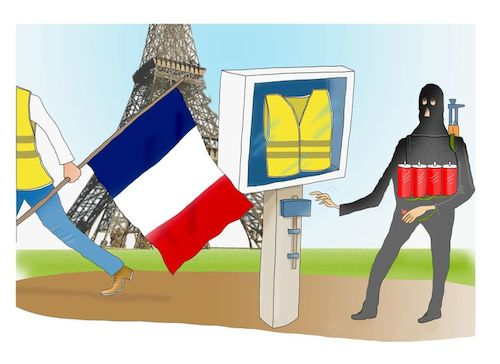 Cartoon: Keep France safe! (medium) by Shahid Atiq tagged france