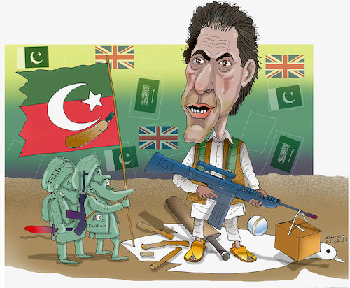 Cartoon: Pakistan New Prime ..! (medium) by Shahid Atiq tagged afghanistan,balkh,helmand,kabul,london,nangarhar,and,ghor,attack