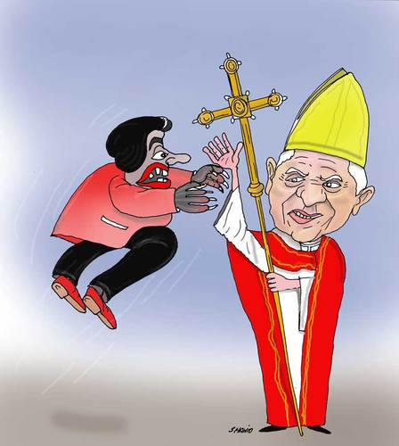 Cartoon: Pope (medium) by Shahid Atiq tagged 091