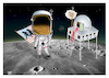 Cartoon: 50 Years on. the Moon ! (small) by Shahid Atiq tagged moon