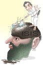 Cartoon: Cleaning The Black Brain (small) by Shahid Atiq tagged afghanistan,kabul,syria,iran,switzerland,schweiz,usa,france,football,safi,cartooneu,uk,isis,taliban,cartoons,caricature,raiyan,ehba,bahar