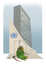 Cartoon: Corona and UN general assembly ! (small) by Shahid Atiq tagged un