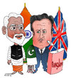 Cartoon: David Cameron in India (small) by Afghancartoon tagged afghanistan,kabul,syria,iran,switzerland,schweiz,usa,france,football,safi,cartooneu,uk,india,shahid,atiq