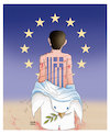Cartoon: Dream of Refugee (small) by Shahid Atiq tagged afganistan