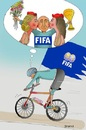 Cartoon: FIFA  Re elected (small) by Shahid Atiq tagged 0216