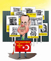 Cartoon: FREE TURKEY MEDIA ! (small) by Shahid Atiq tagged afghanistan,helmand,kabul,attack