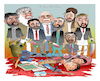 Cartoon: Warlords!!! (small) by Shahid Atiq tagged afghanistan,balkh,helmand,kabul,london,nangarhar,and,ghor,attack