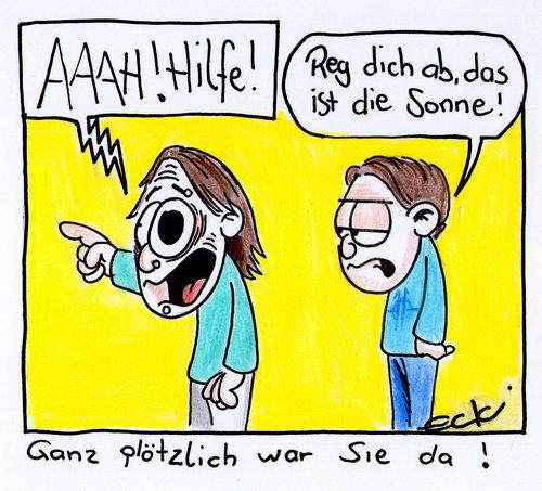 Cartoon sonne medium by eckizeichnet tagged frühling sonne