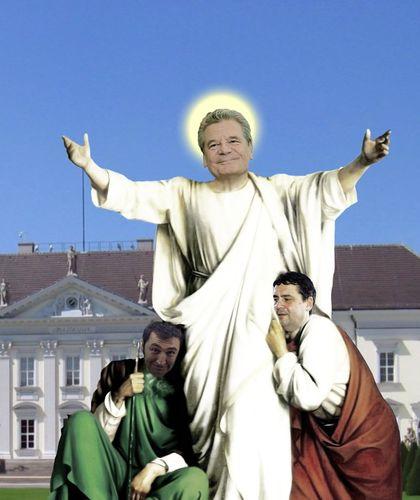 Cartoon jesus lebt medium by heschmand tagged gabriel gauck