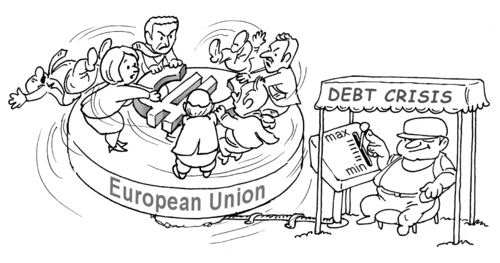 Cartoon: carousel-1 (medium) by gonopolsky tagged crisis,europe