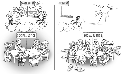 Cartoon: round table (medium) by gonopolsky tagged society