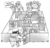 Cartoon: the maze (small) by gonopolsky tagged crisis,mutual,aid