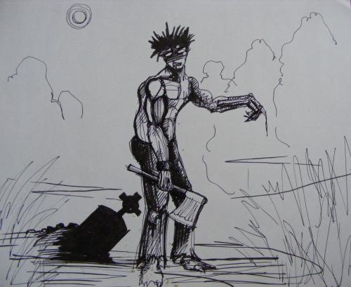 Cartoon: Zombie Sketch (medium) by gianlucasanvido tagged zombie,