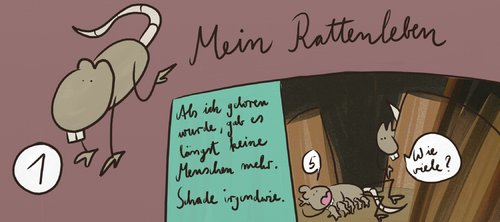 Cartoon: Mein Rattenleben - Teil 1 (medium) by Frank_Sorge tagged rat,ratte,atom