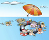 Cartoon: Sea Paella (small) by llobet tagged paella,sea,girls,food,cuisine