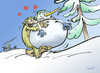 Cartoon: Yetina (small) by llobet tagged yetina,yeti,snowman,winter