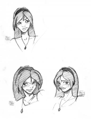 Cartoon: Akiko Sketch (medium) by Reziel4 tagged akiko,reziel,the,hunter,