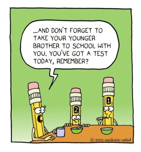 Cartoon: Pencils (medium) by sardonic salad tagged number,pencils,cartoon,comic,sardonic,salad,school,test