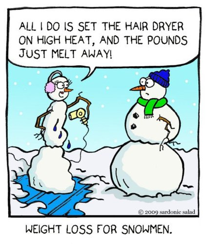 Cartoon: weight loss for snowmen (medium) by sardonic salad tagged snowman,weight,loss