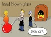Cartoon: glass blowing (small) by sardonic salad tagged glass,blowing,cartoon,show,off,venus,de,milo