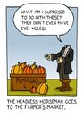 Cartoon: headless horseman (small) by sardonic salad tagged headless horseman cartoon comic ichabod crane humor