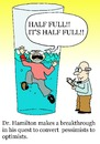Cartoon: pessimist (small) by sardonic salad tagged pessimist,optimist,glass,half,full