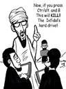 Cartoon: new face of terrorism (small) by Curbis_humor tagged terroism,cyber