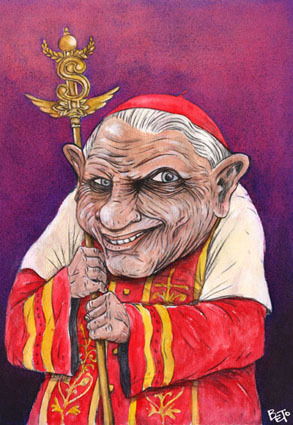 Cartoon: Benedetto XVI (medium) by beto cartuns tagged unpop,pope,vatican