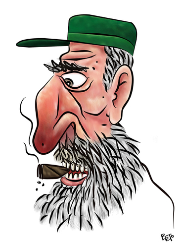 Cartoon: Fidel (medium) by beto cartuns tagged communism