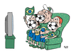 Cartoon: 2010 World Cup South Africa (small) by beto cartuns tagged fifa,brazil,tv,marketing