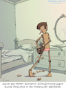 Cartoon: Figurbewusst (small) by Zapp313 tagged pinocchio,magerwahn,magersucht