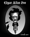 Cartoon: Edgar Allan Poe (small) by stewie tagged edgar allan poe