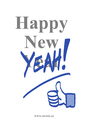Cartoon: Happy New YEAH (small) by stewie tagged new,year