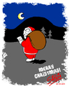 Cartoon: MERRY CHRISTMAS EVERYONE! (small) by stewie tagged merry christmas santa claus night wood list nice
