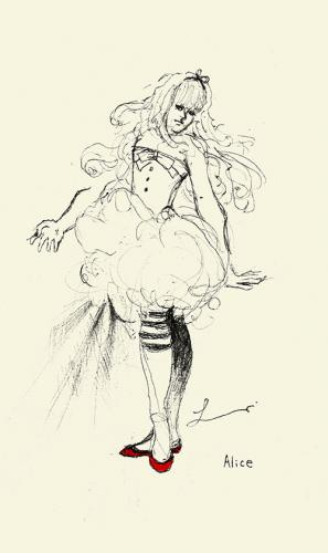Cartoon: Alice in Wonderland (medium) by lavi tagged alice,in,wonderland,