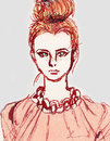 Cartoon: face (small) by lavi tagged fashion,illustration,face,girl,pink,clothes,dress,expression,lavi,liao